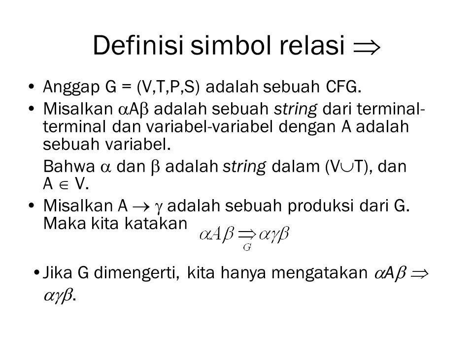 Definisi simbol relasi 