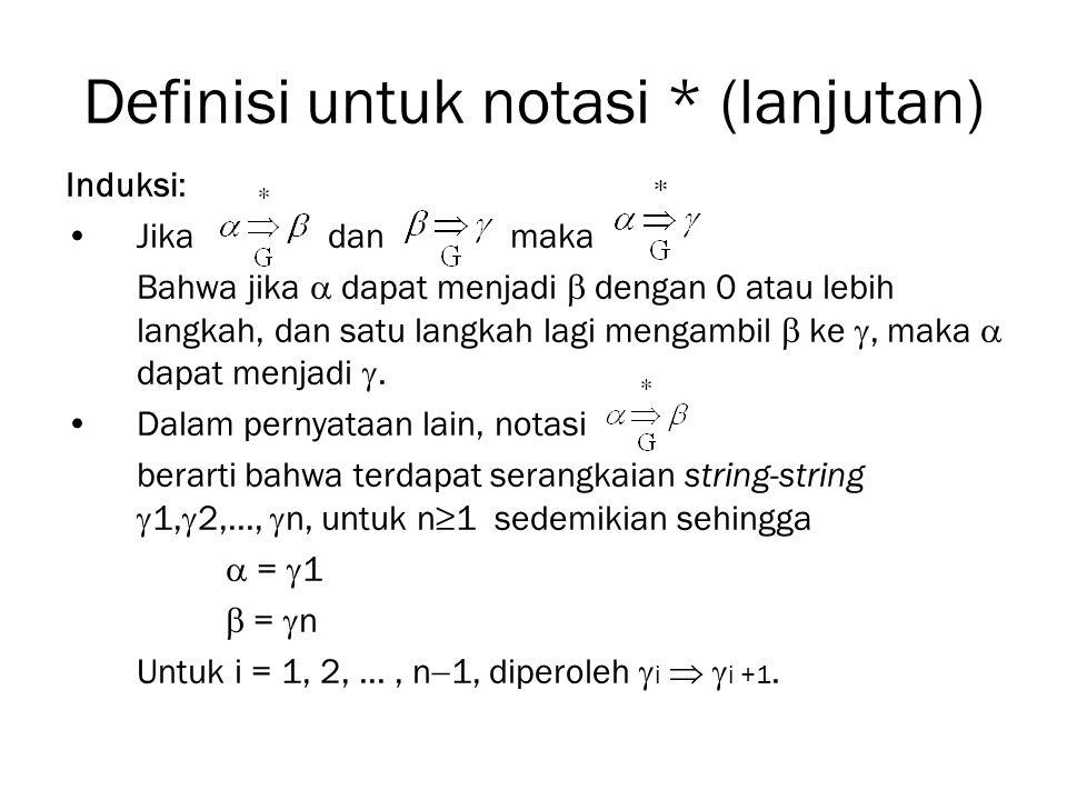 Definisi untuk notasi * (lanjutan)