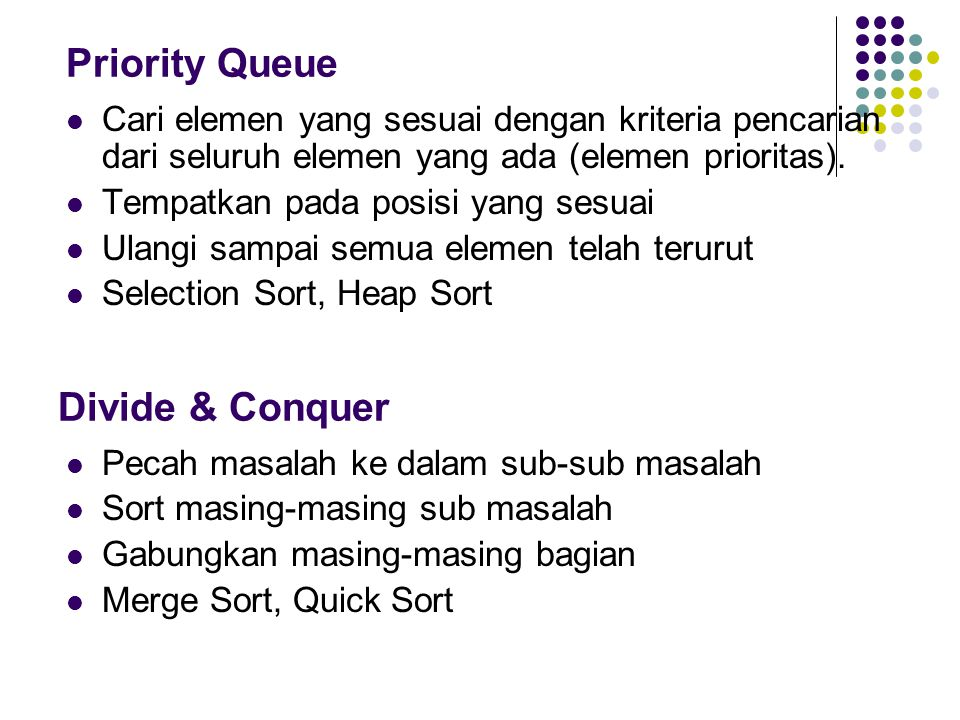 Priority Queue Divide & Conquer