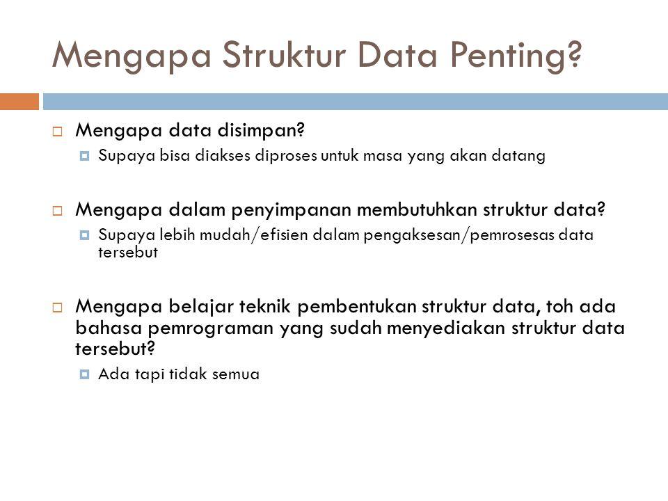 Mengapa Struktur Data Penting
