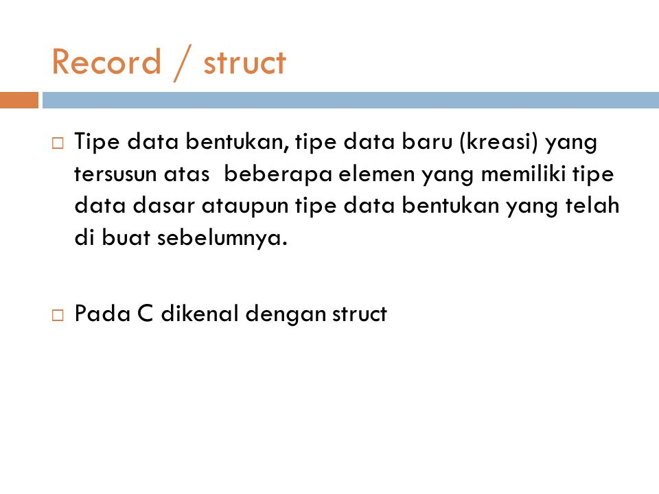 Record / struct