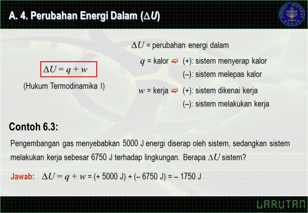 A. 4. Perubahan Energi Dalam (U)