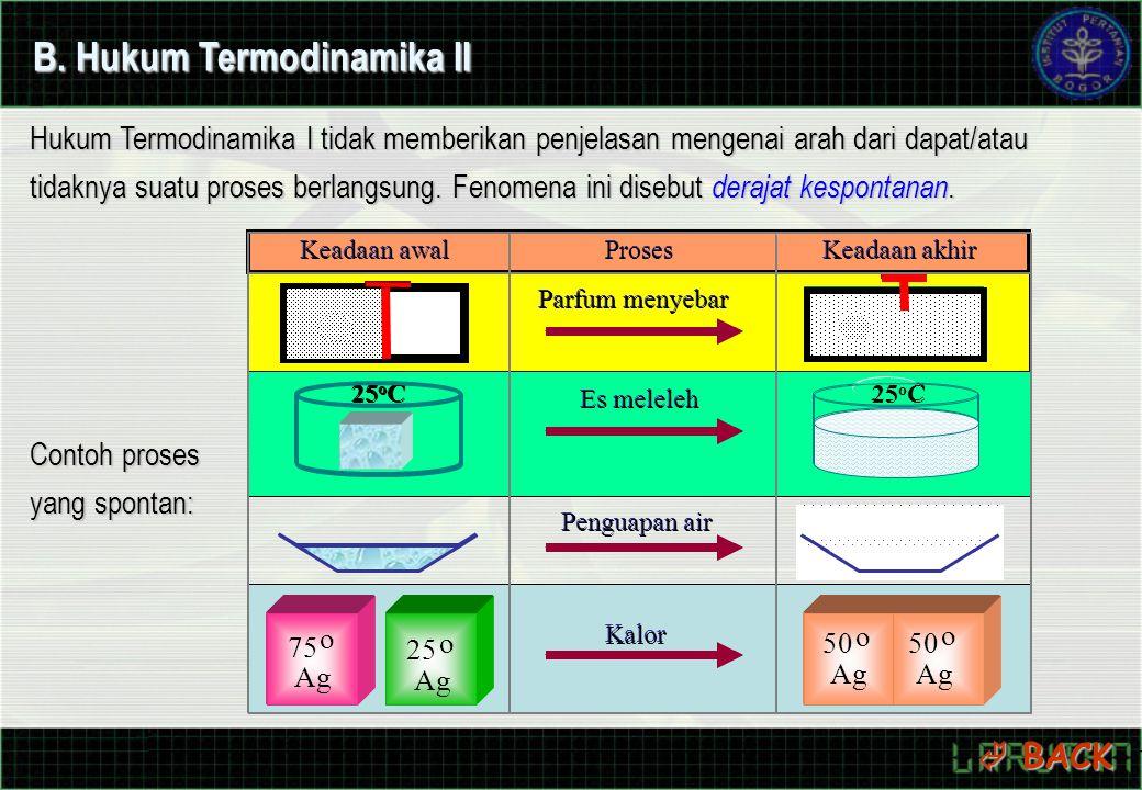 B. Hukum Termodinamika II
