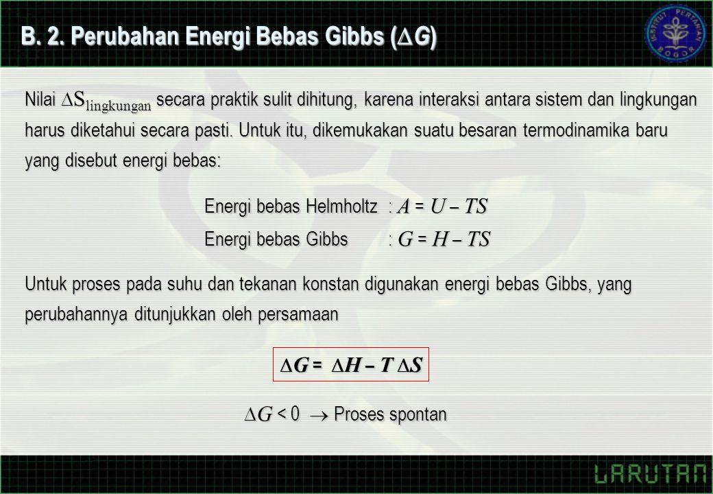 B. 2. Perubahan Energi Bebas Gibbs (G)