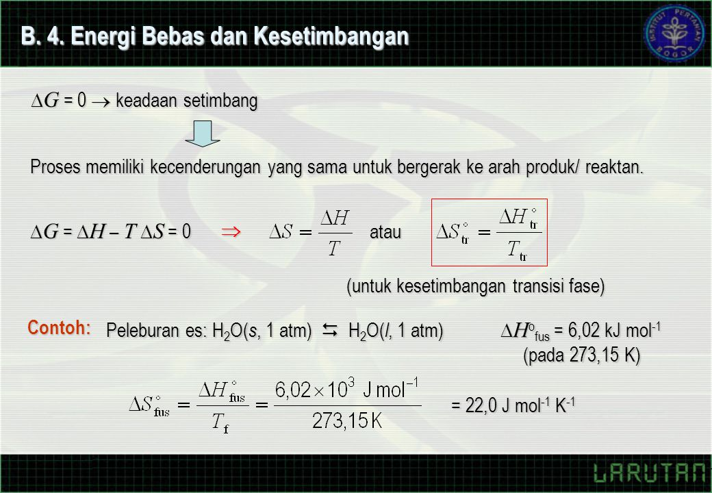 B. 4. Energi Bebas dan Kesetimbangan