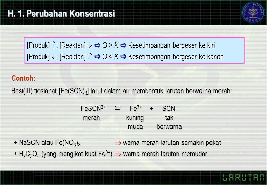 H. 1. Perubahan Konsentrasi