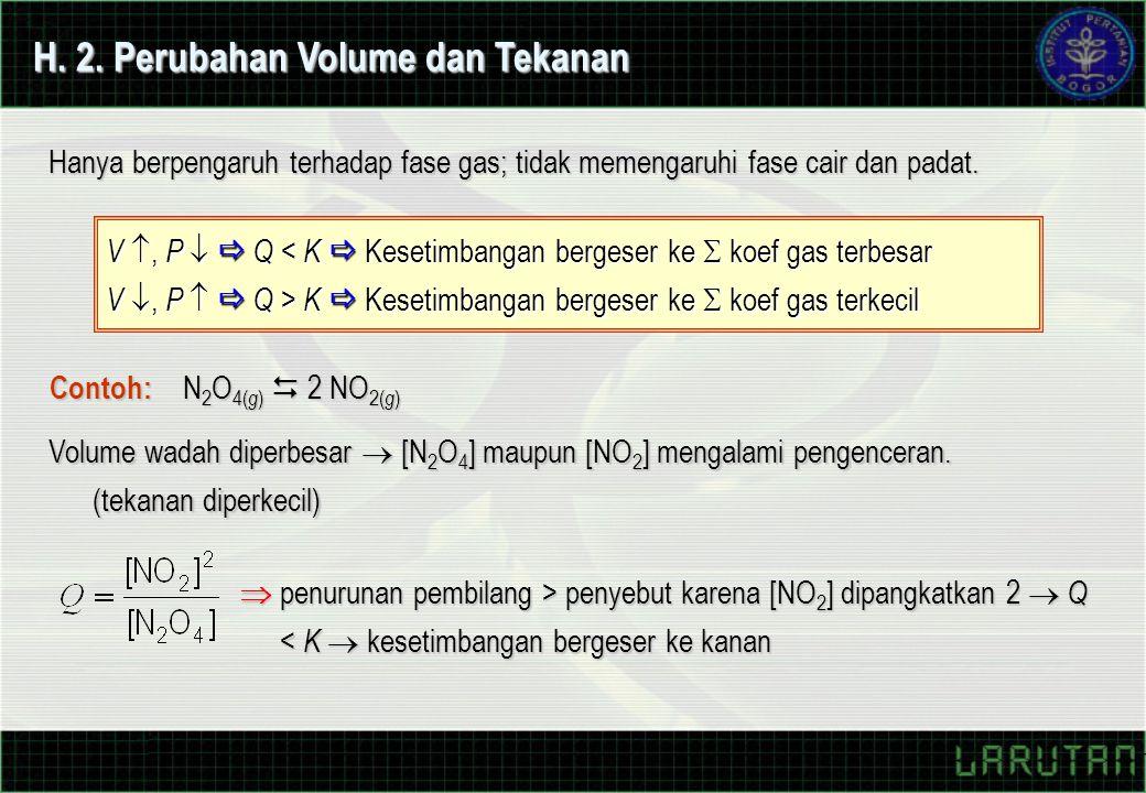 H. 2. Perubahan Volume dan Tekanan