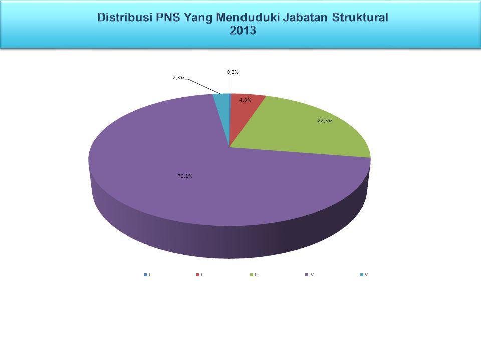 Distribusi PNS Yang Menduduki Jabatan Struktural