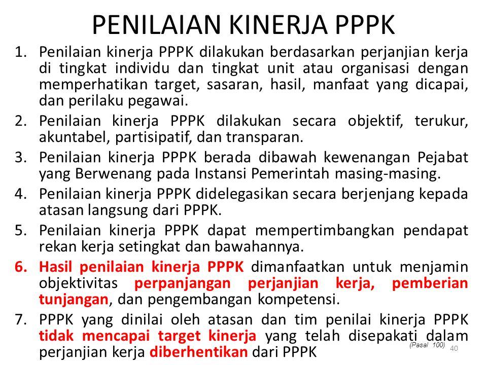 Penilaian Kinerja PPPK