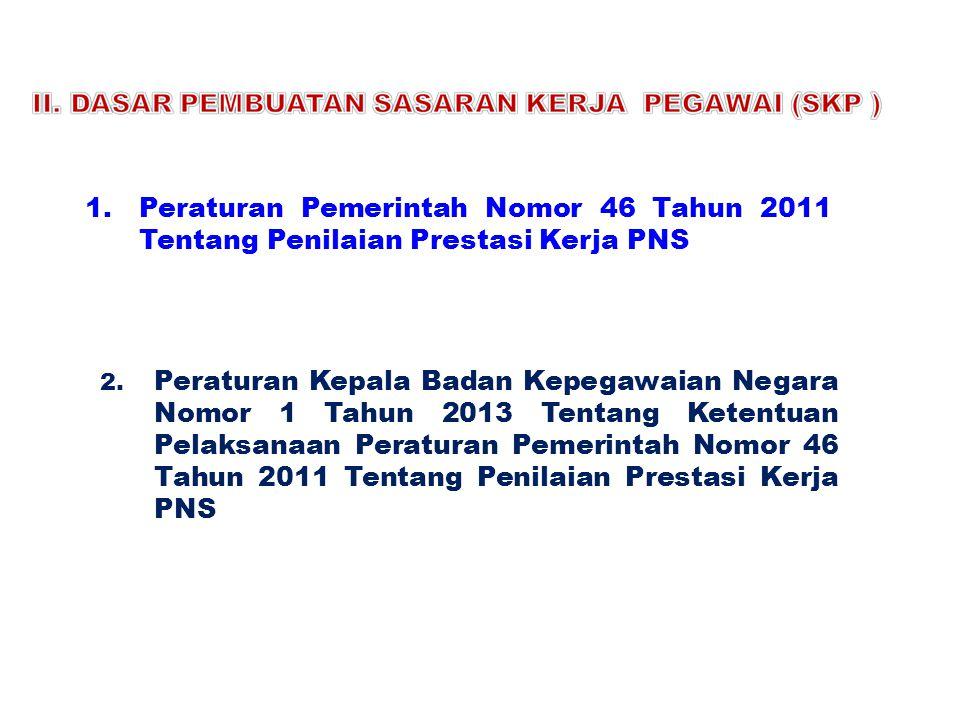 Peraturan Pemerintah Nomor 46 Tahun 2011 Tentang Penilaian Prestasi Kerja PNS
