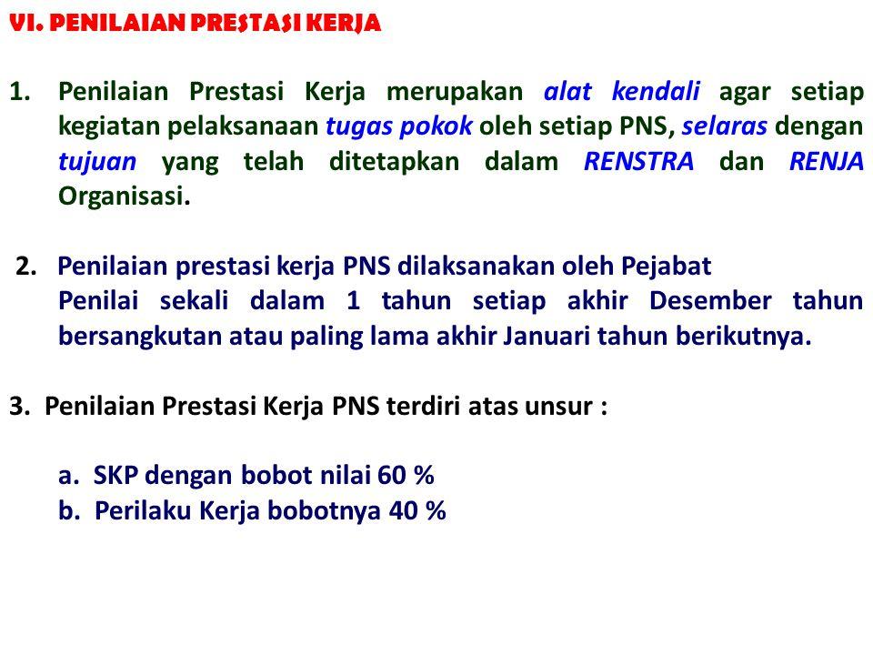 2. Penilaian prestasi kerja PNS dilaksanakan oleh Pejabat