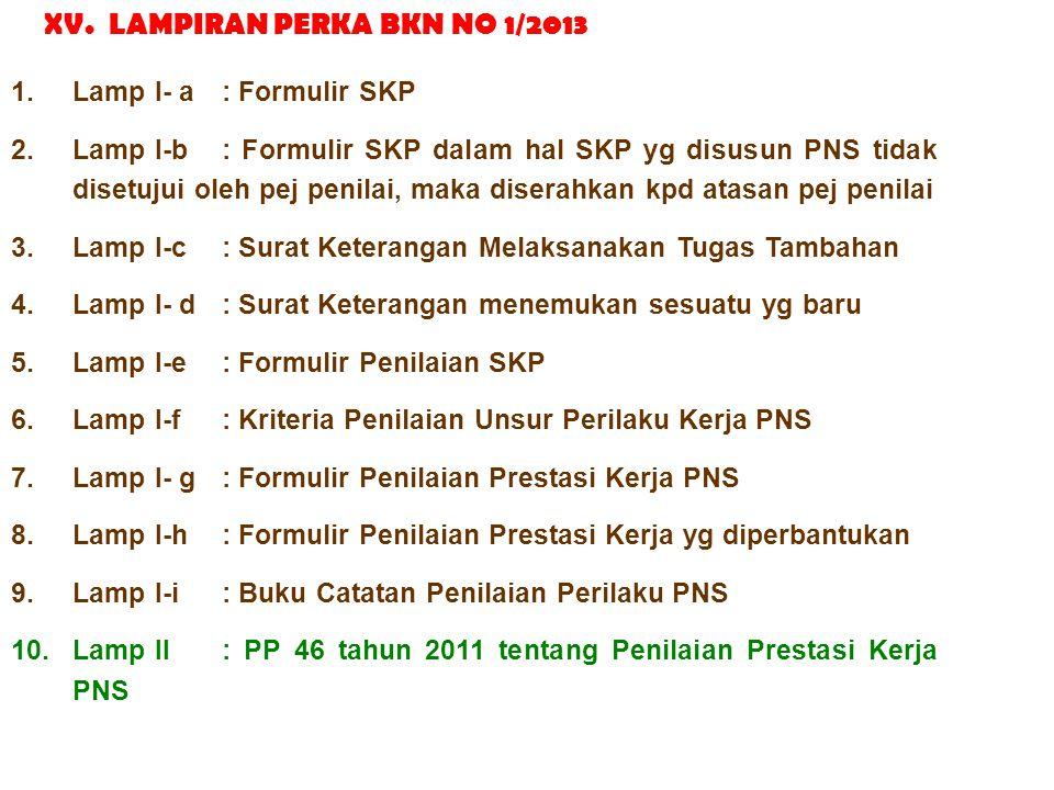 XV. LAMPIRAN PERKA BKN NO 1/2013