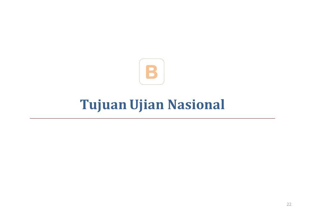 B Tujuan Ujian Nasional