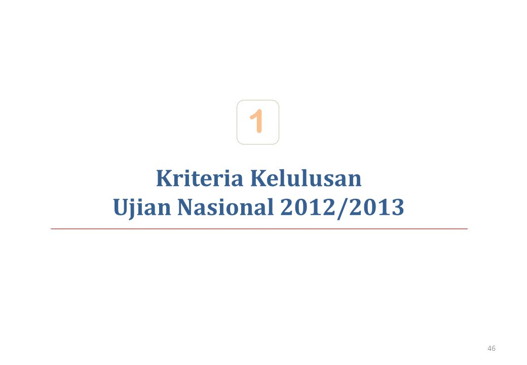 1 Kriteria Kelulusan Ujian Nasional 2012/2013
