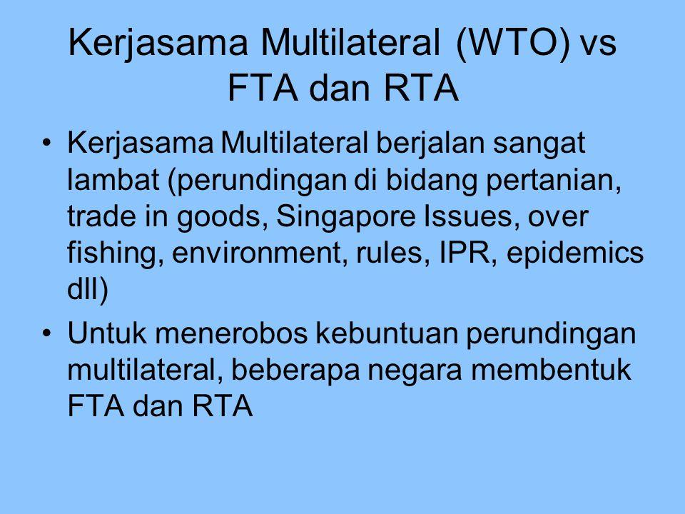 Kerjasama Multilateral (WTO) vs FTA dan RTA