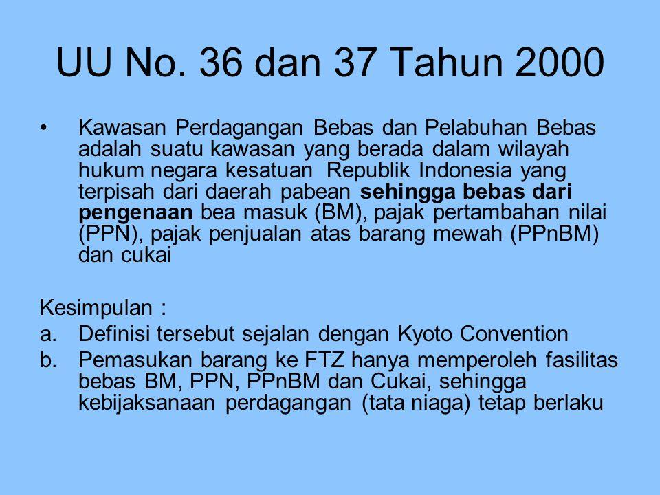UU No. 36 dan 37 Tahun 2000