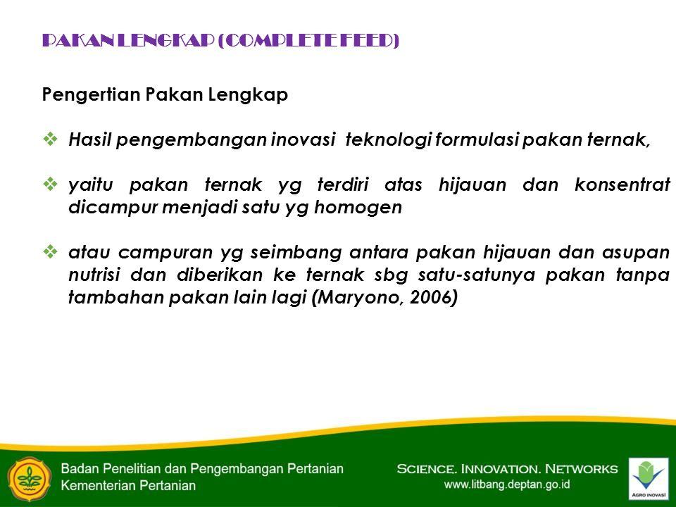 PAKAN LENGKAP (COMPLETE FEED)