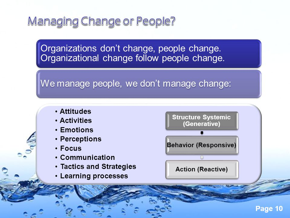 Managing Change or People