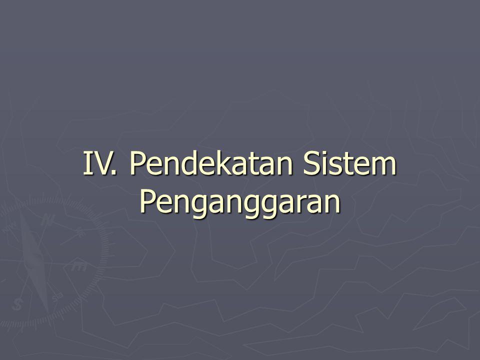 IV. Pendekatan Sistem Penganggaran