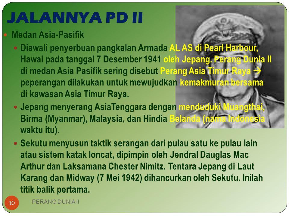 JALANNYA PD II Medan Asia-Pasifik