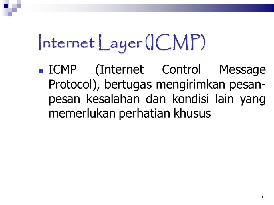 Internet Layer (ICMP)‏