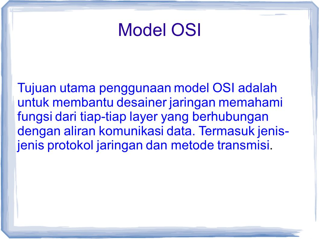 Model OSI