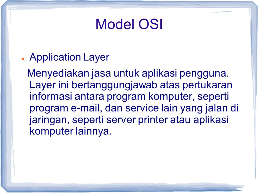 Model OSI Application Layer