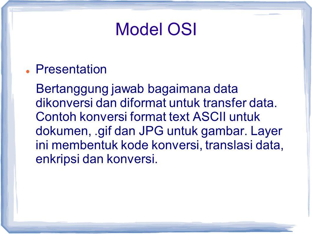 Model OSI Presentation