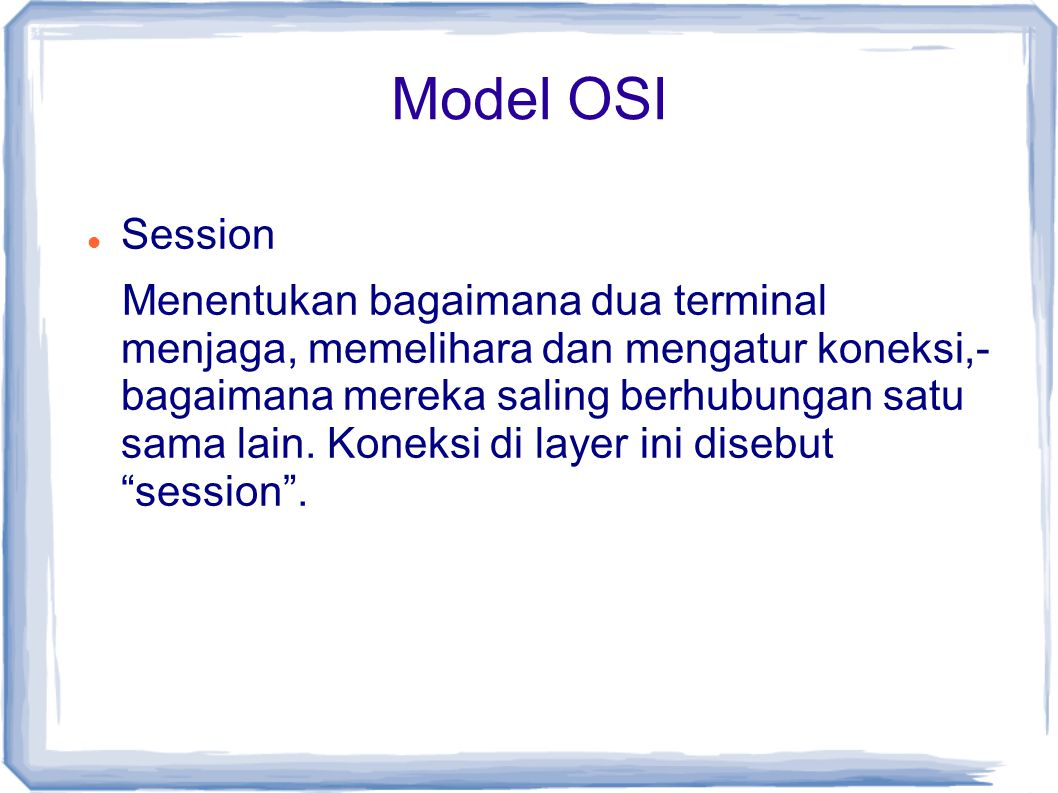 Model OSI Session.