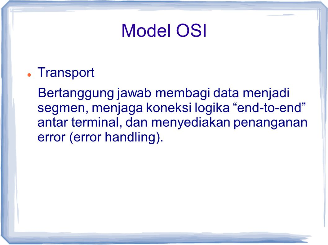 Model OSI Transport.