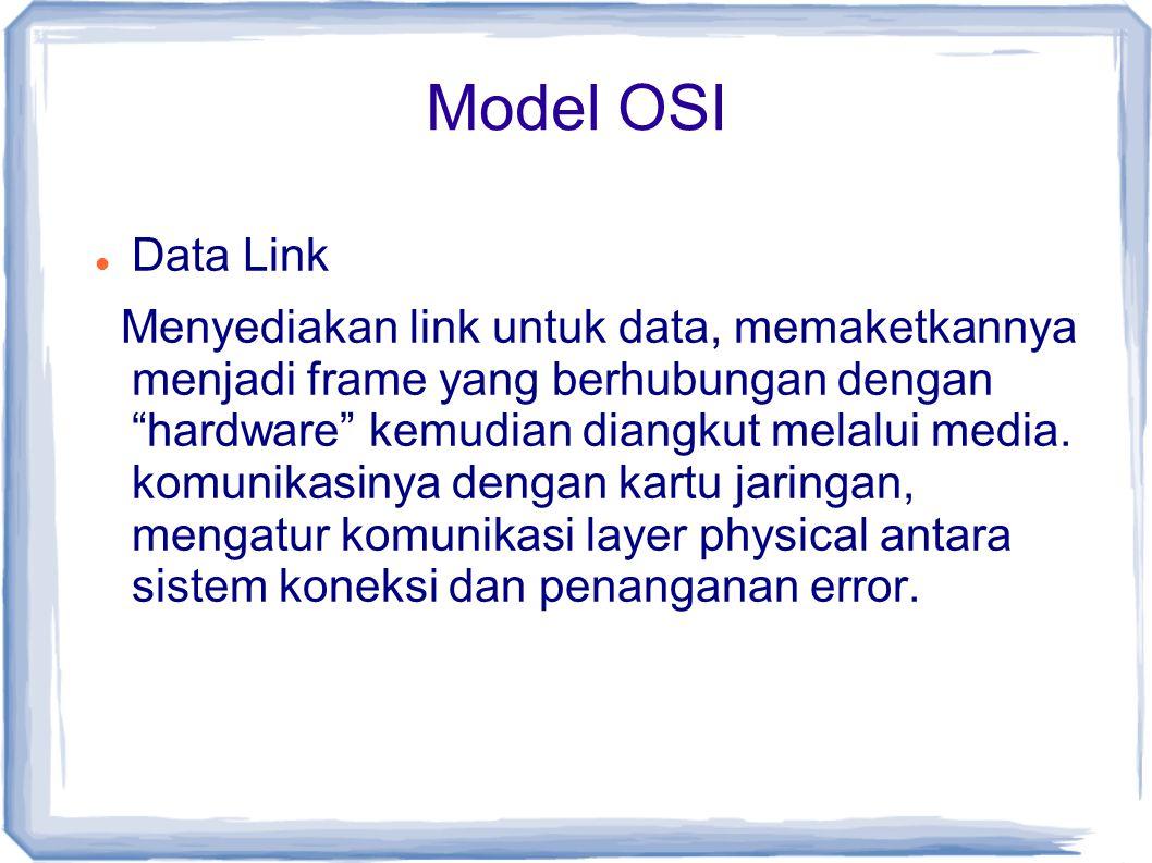 Model OSI Data Link.