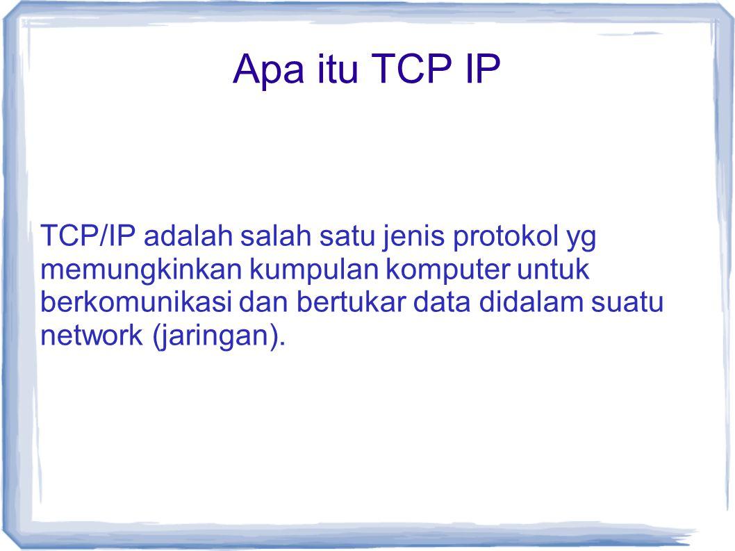 Apa itu TCP IP