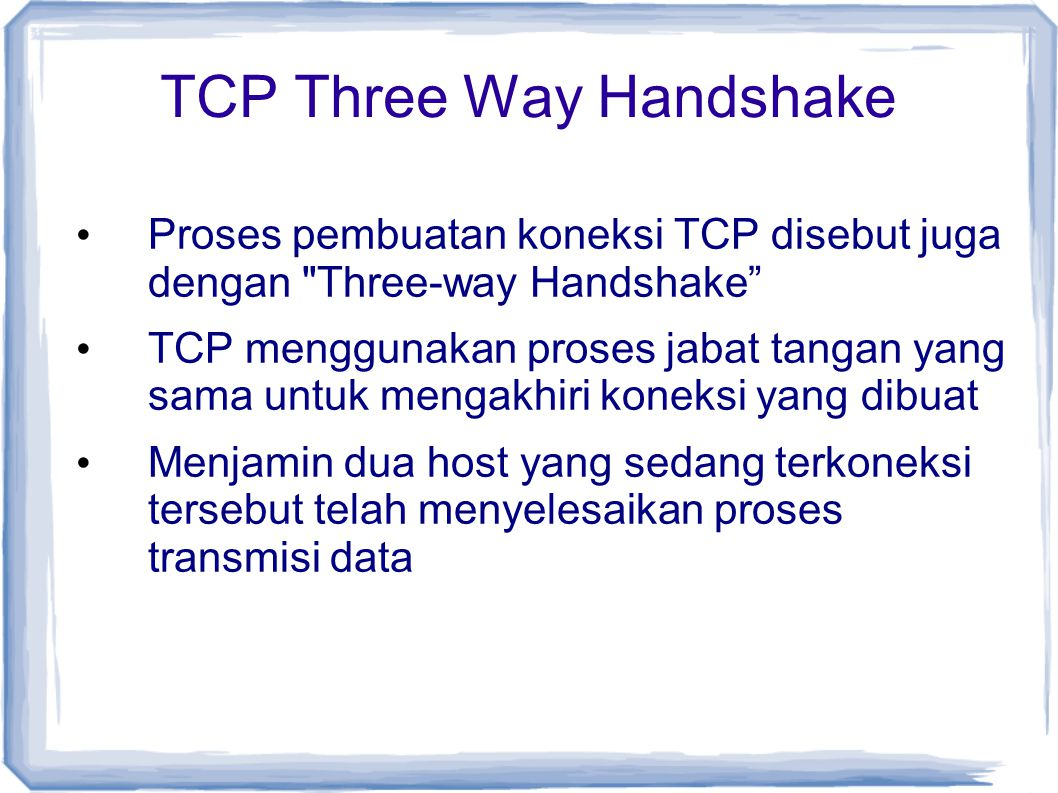 TCP Three Way Handshake