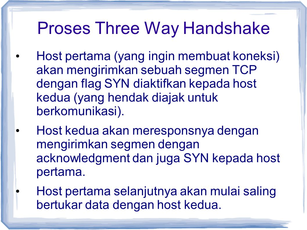 Proses Three Way Handshake