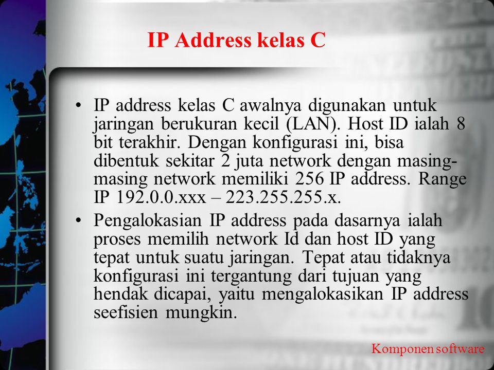IP Address kelas C