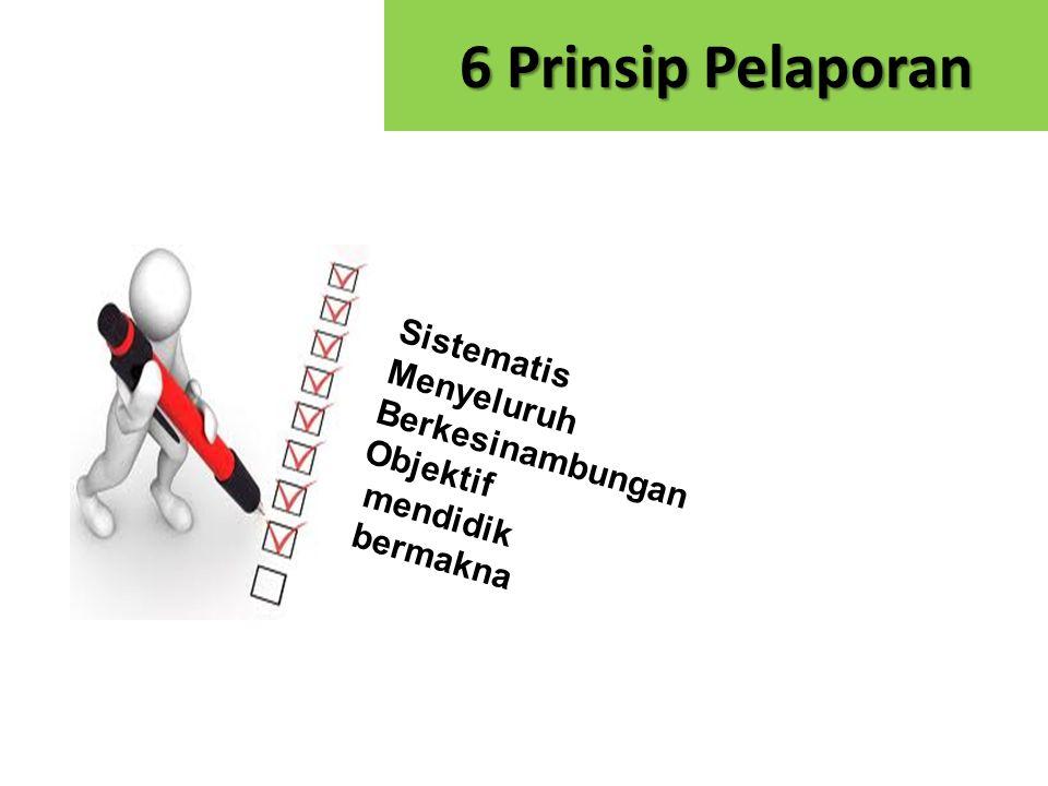 6 Prinsip Pelaporan Sistematis Menyeluruh Berkesinambungan Objektif
