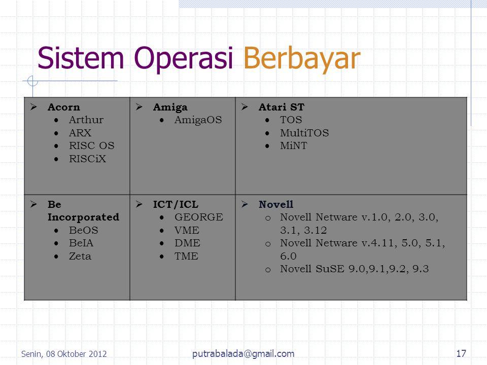 Sistem Operasi Berbayar