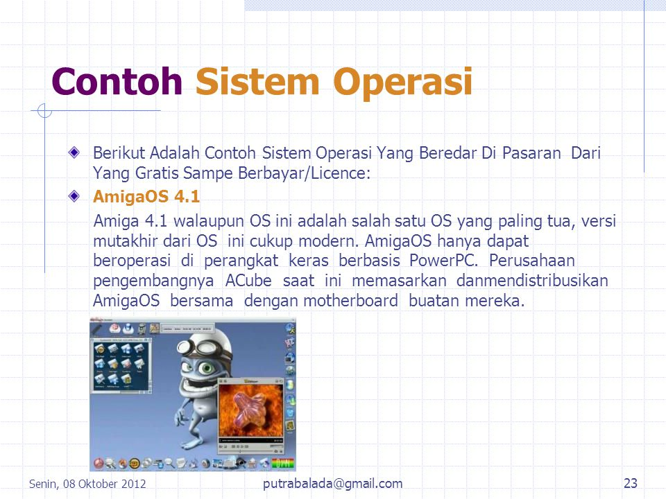 Contoh Sistem Operasi Berikut Adalah Contoh Sistem Operasi Yang Beredar Di Pasaran Dari Yang Gratis Sampe Berbayar/Licence: