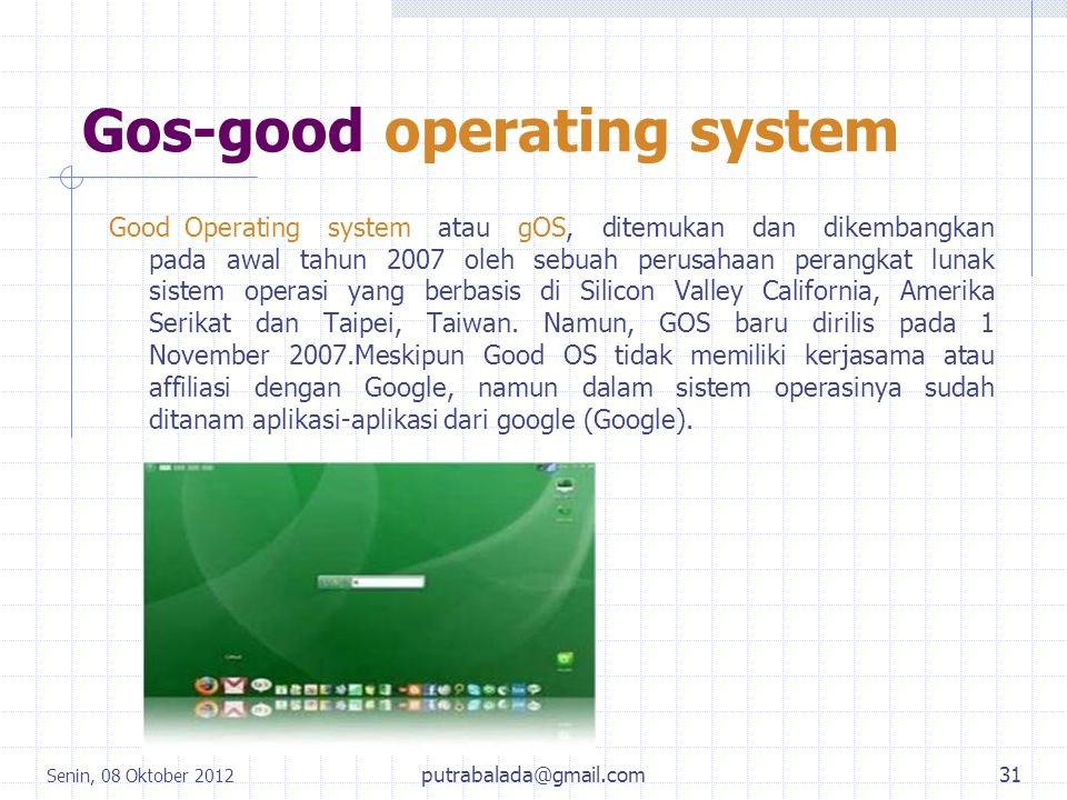 Gos-good operating system