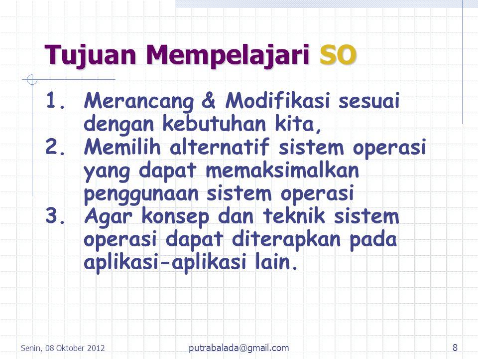 Tujuan Mempelajari SO Merancang & Modifikasi sesuai dengan kebutuhan kita,