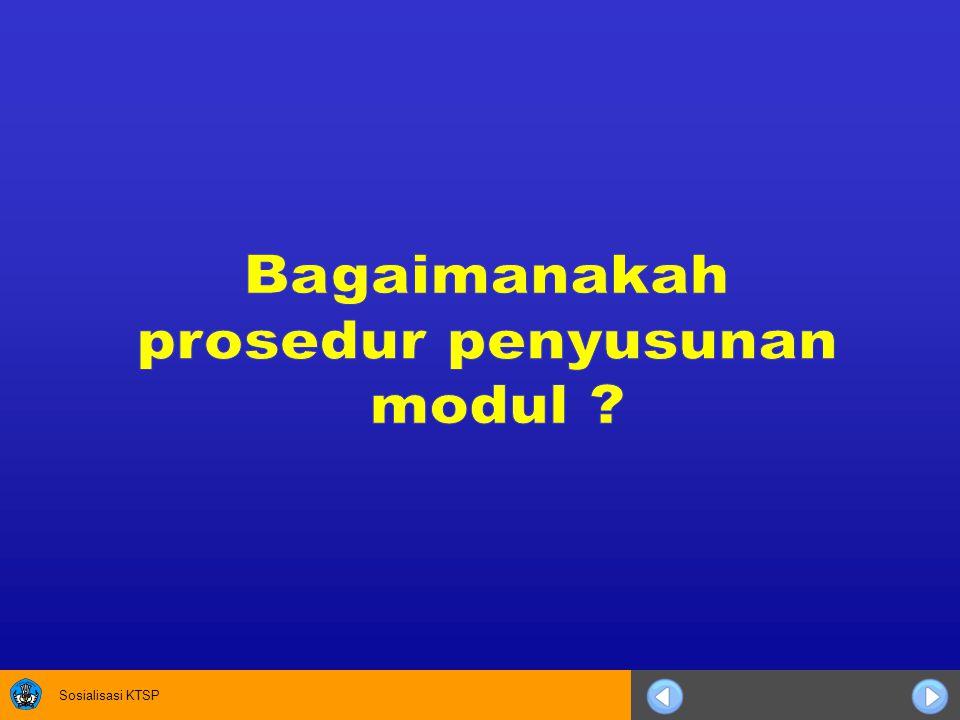 Bagaimanakah prosedur penyusunan modul