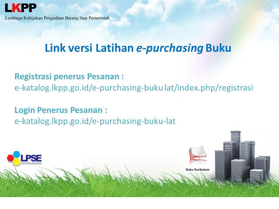 Link versi Latihan e-purchasing Buku