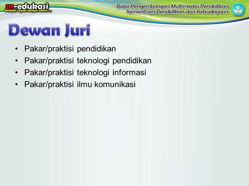 Dewan Juri Pakar/praktisi pendidikan