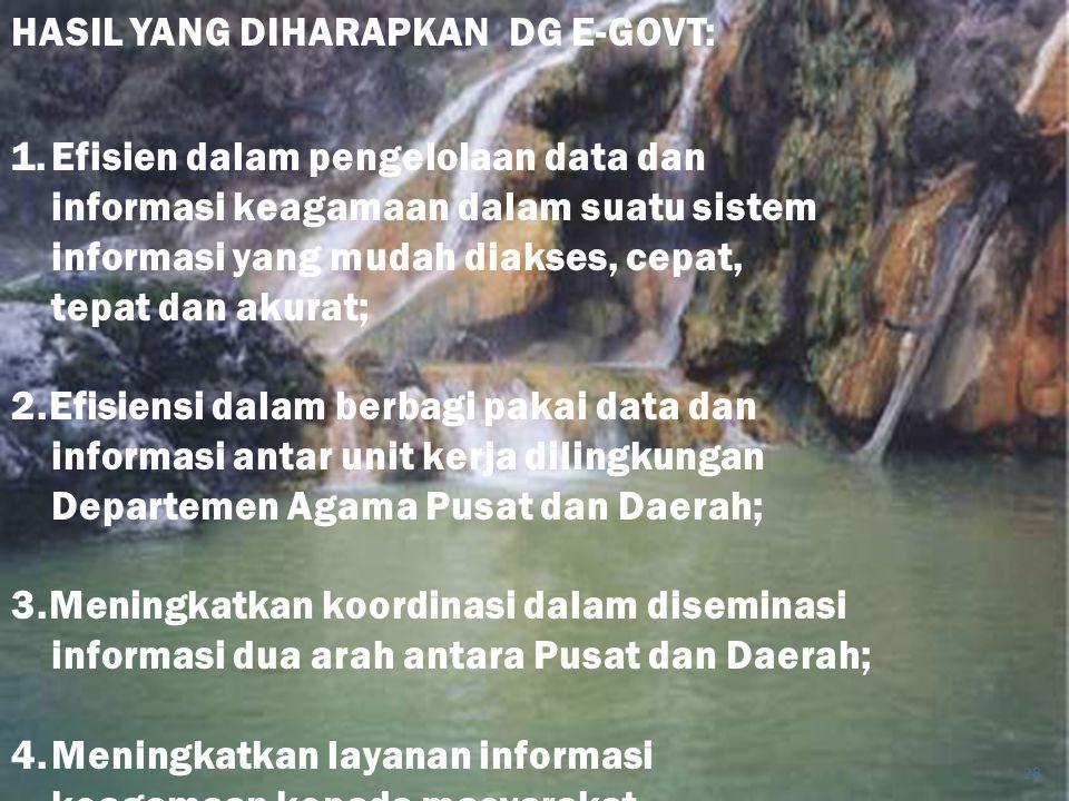 HASIL YANG DIHARAPKAN DG E-GOVT: