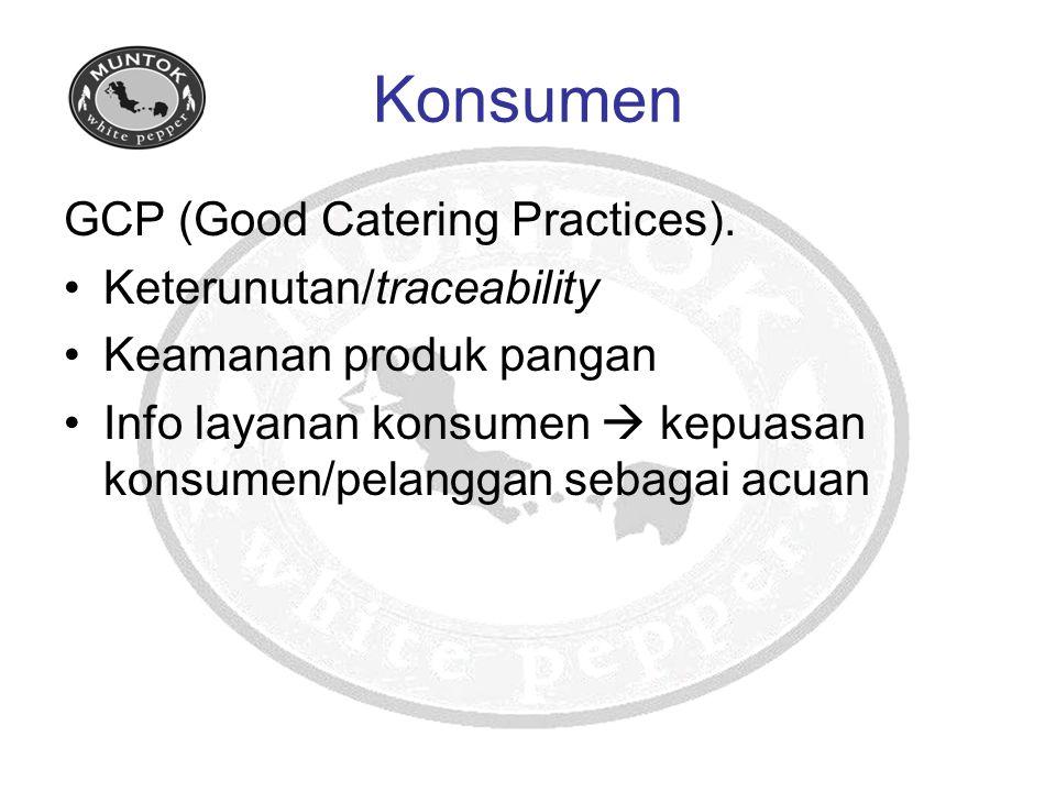 Konsumen GCP (Good Catering Practices). Keterunutan/traceability