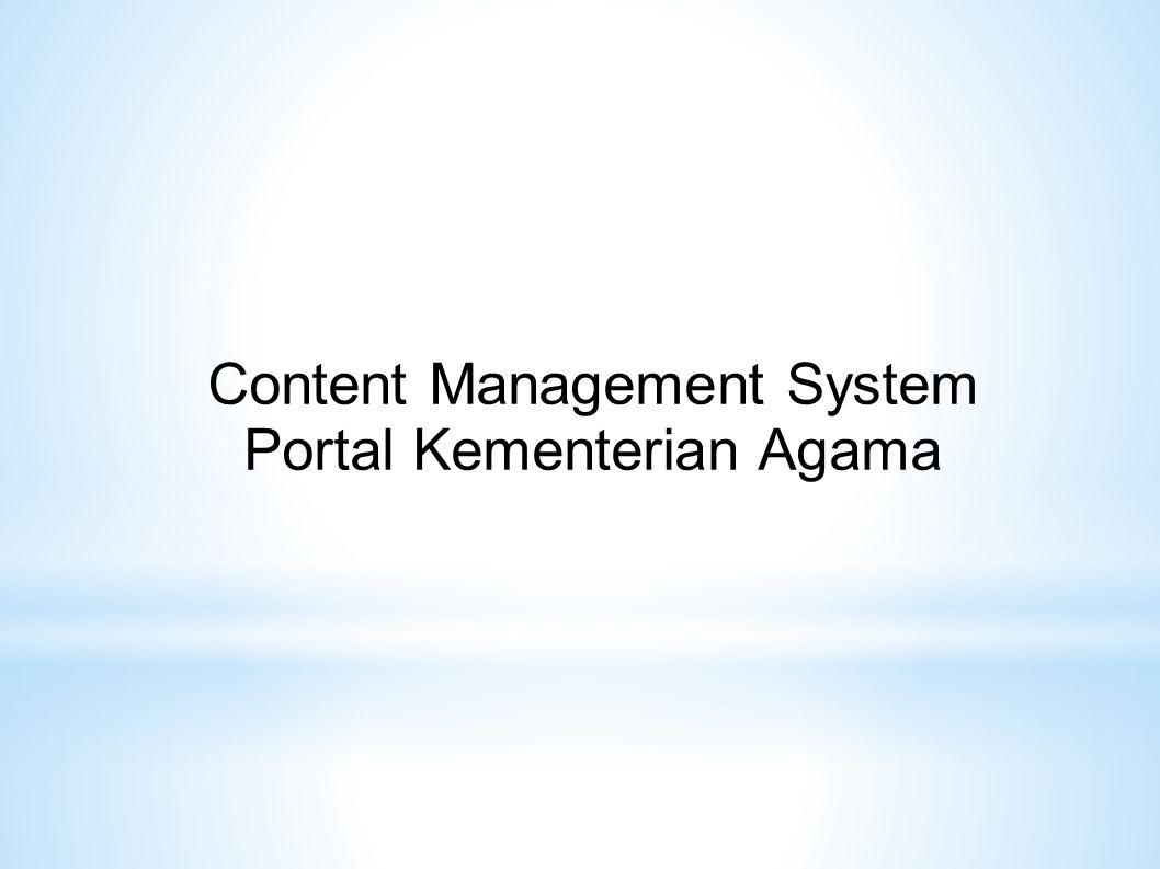 Content Management System Portal Kementerian Agama