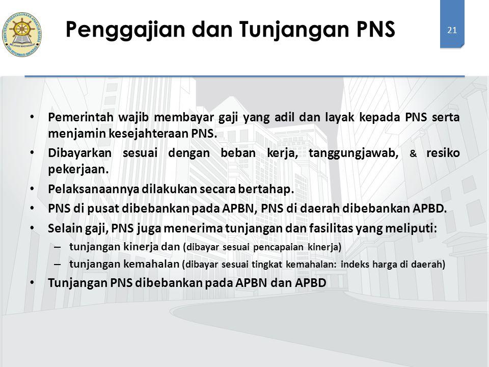 Penggajian dan Tunjangan PNS