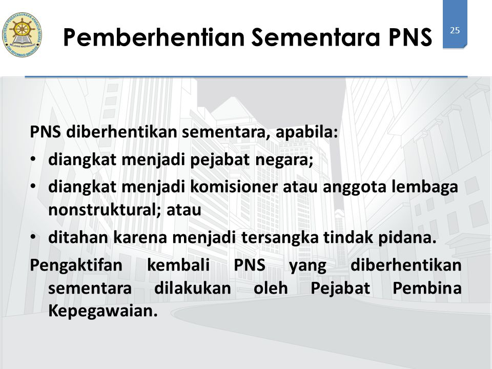 Pemberhentian Sementara PNS