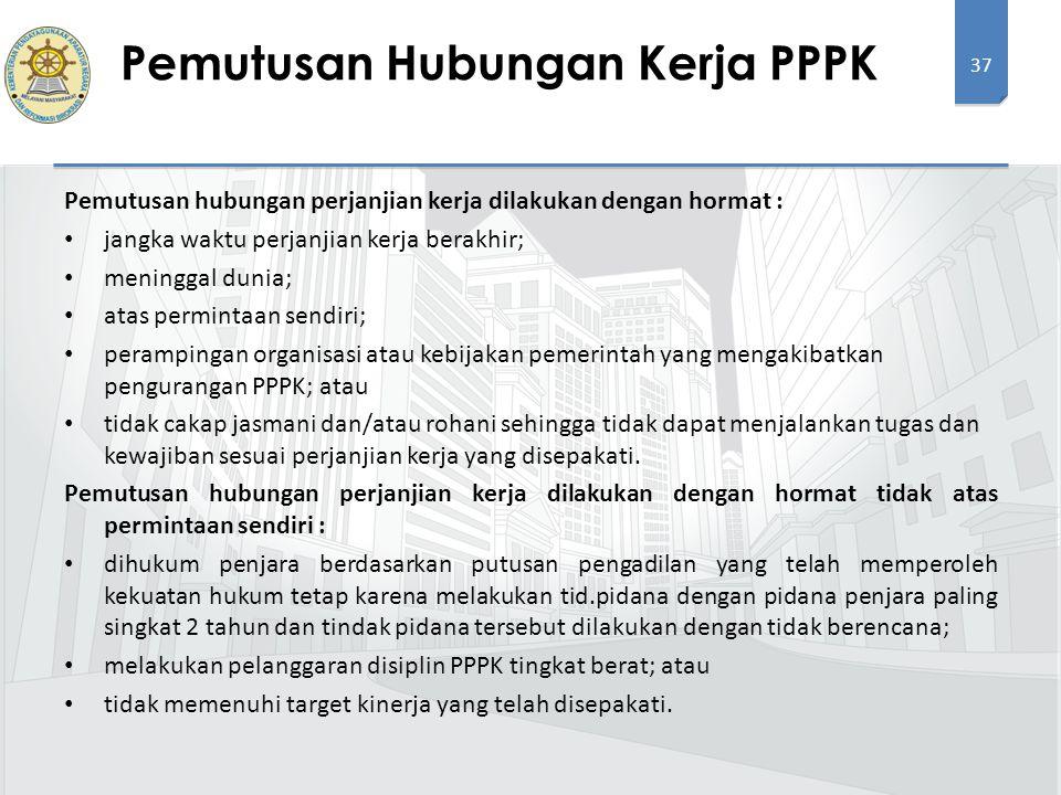 Pemutusan Hubungan Kerja PPPK