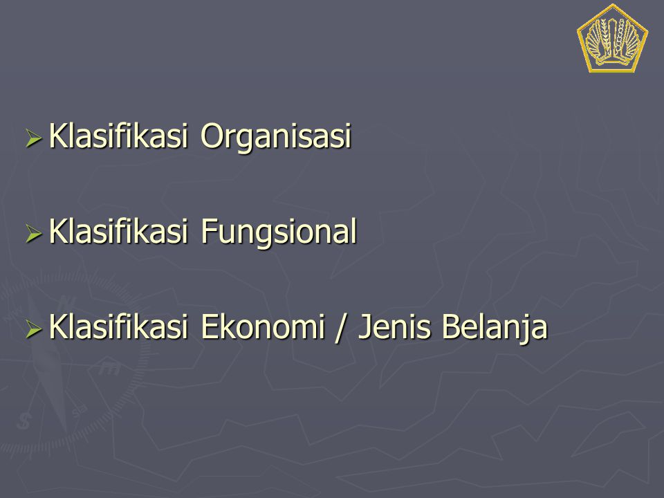 Klasifikasi Organisasi